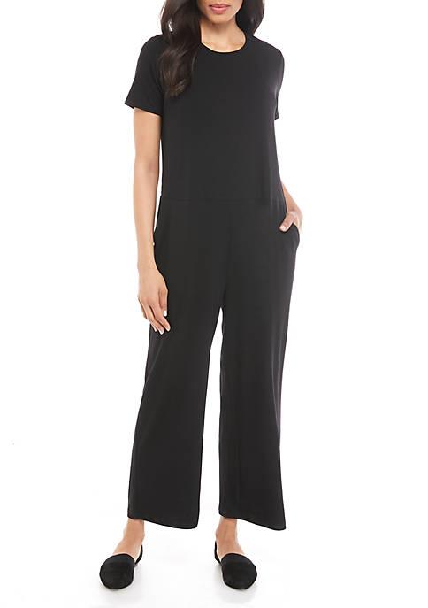 Eileen Fisher Short Sleeve Jersey Jumpsuit
