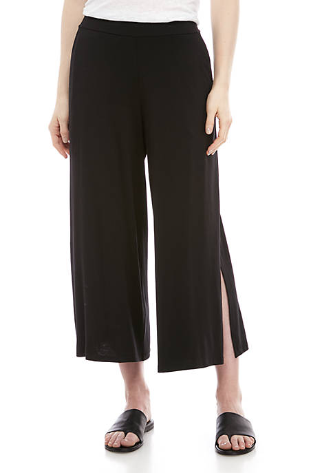 Eileen Fisher Pull On Jersey Pants with Side