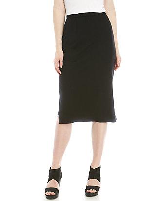 fa3af756d4 Eileen Fisher. Eileen Fisher Side Slit Slim Jersey Skirt