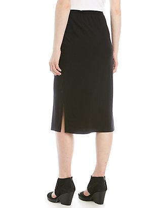 5d96c61d3d Eileen Fisher Side Slit Slim Jersey Skirt   belk
