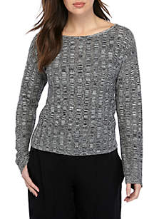 Eileen Fisher Marled Pullover Sweater