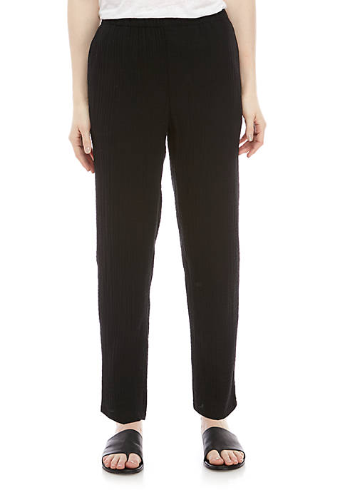 Eileen Fisher Gauze Pants with Tapered Leg