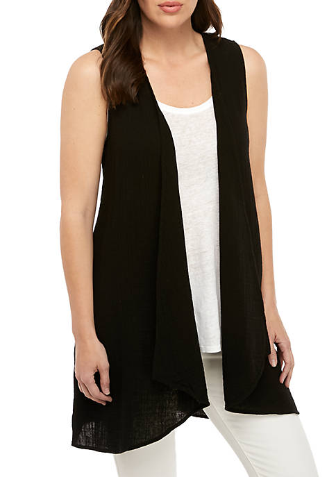 Eileen Fisher Long Gauze Vest