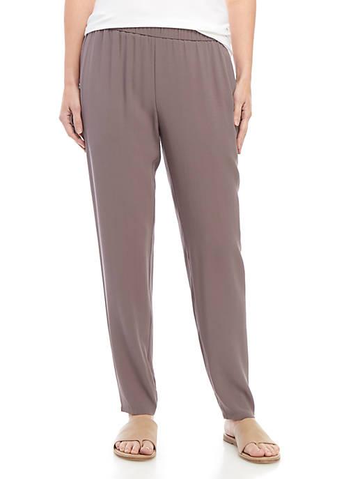 Eileen Fisher Georgette Crepe Slim Pants