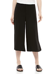 Eileen Fisher Wide Leg Crepe Cropped Pants