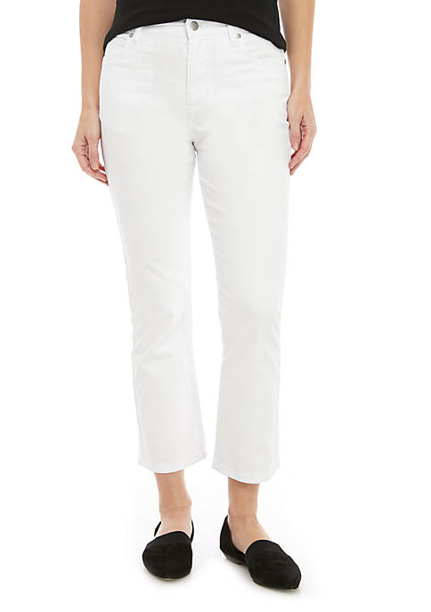 Eileen Fisher Slim Knee Crop Jeans