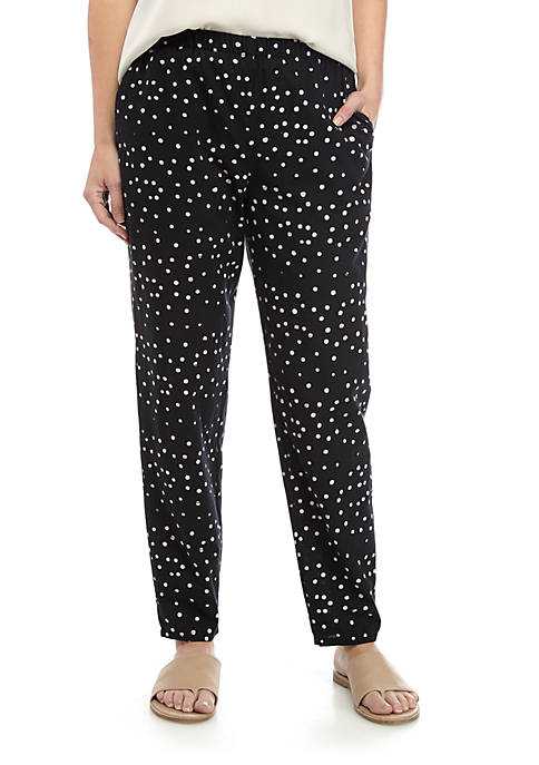 Eileen Fisher Tapered Dot Print Ankle Pants