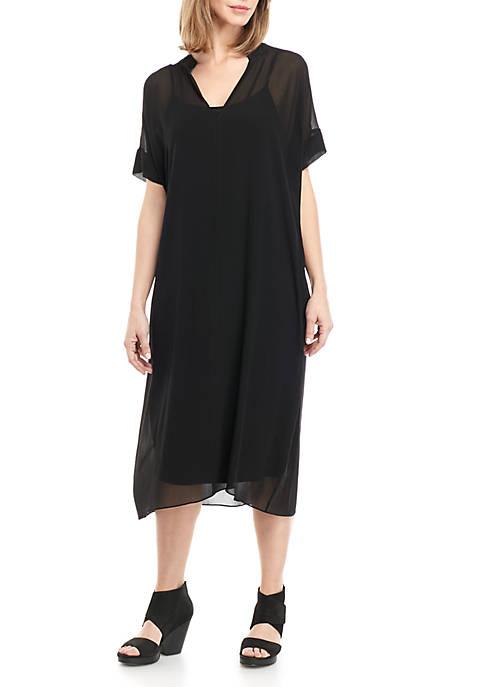 Boxy Sheer Dress With Slip