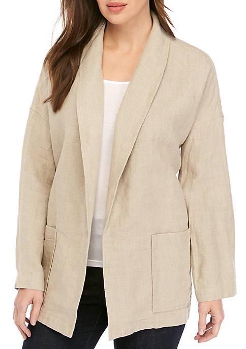 Shawl Collar Linen Blazer