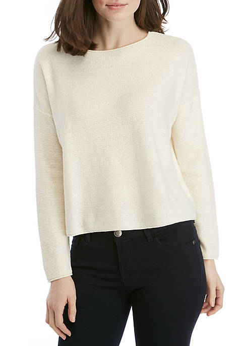 Eileen Fisher Long Sleeve Round Neck Box Sweater