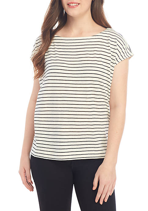 Eileen Fisher Stripe Box T Shirt
