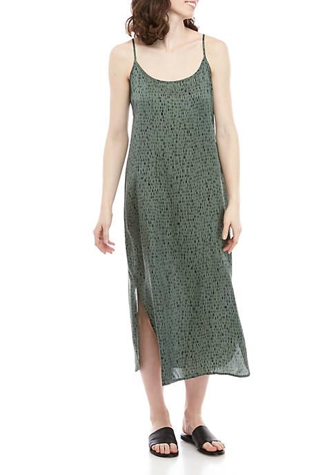 Eileen Fisher Dash Print Cami Maxi Dress