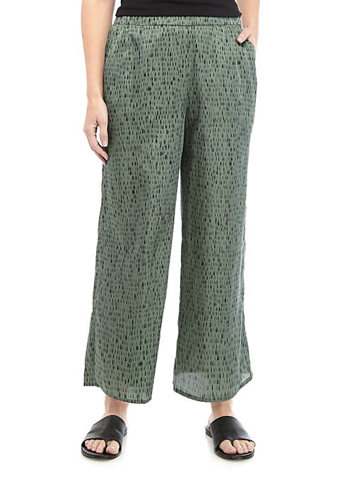 Eileen Fisher Dash Print Cropped Pants