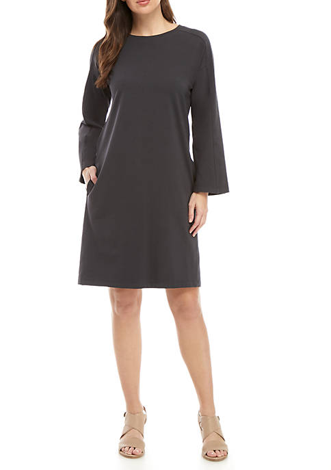 Eileen Fisher Round Neck Sweatshirt Dress