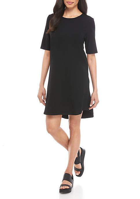 Eileen Fisher Short Sleeve Jersey Dress