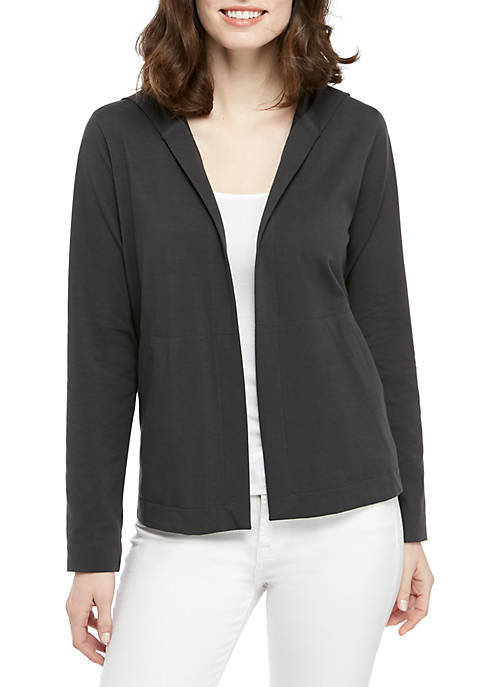 Eileen Fisher Jersey Hooded Cardigan