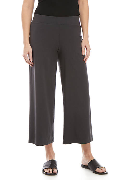 Wide Band Jersey Cropped Pants