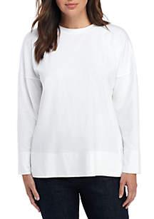 Eileen Fisher Crew Neck Jersey Sweatshirt