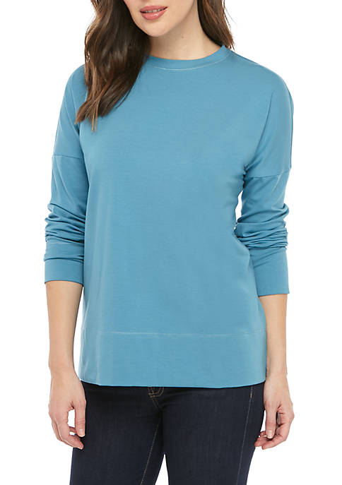 Eileen Fisher Crew Neck Jersey Sweatshirt