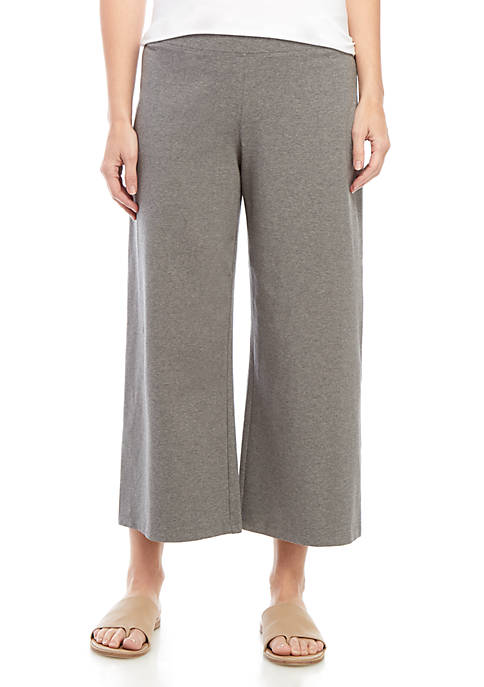 Eileen Fisher Wide Leg Cropped Knit Pants