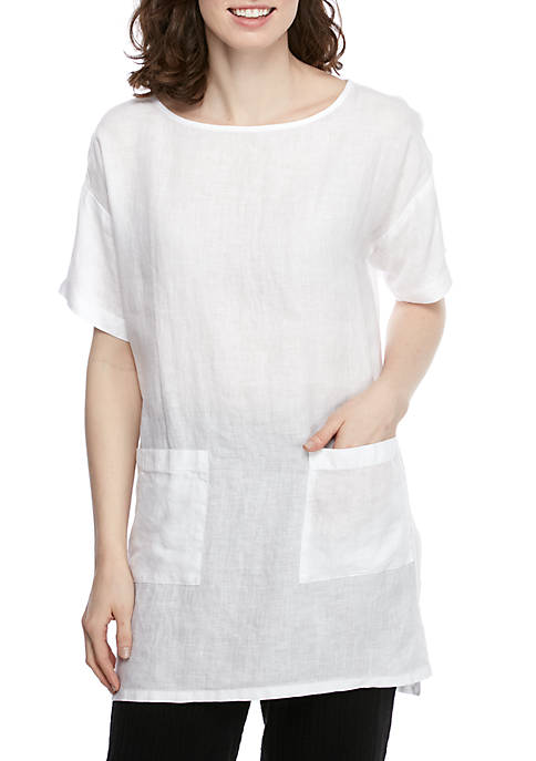 Eileen Fisher Boat Neck Linen Tunic