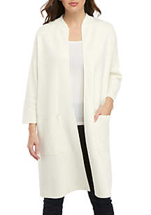 Eileen Fisher Two Pocket Duster Cardigan