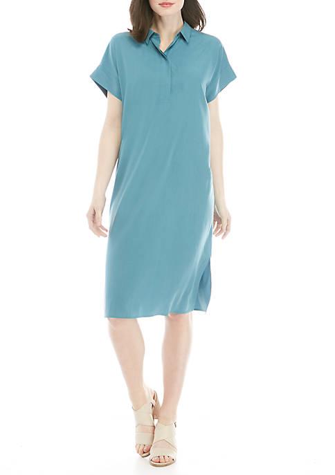 Eileen Fisher Sand Wash Tencel® Collared Dress