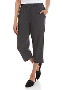 Eileen Fisher Slouchy Sand Wash Tencel™ Cropped Pants
