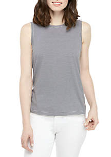 6a7df5853c1 Eileen Fisher Round Neck Crepe Top · Eileen Fisher Round Neck Stripe Split  Tank