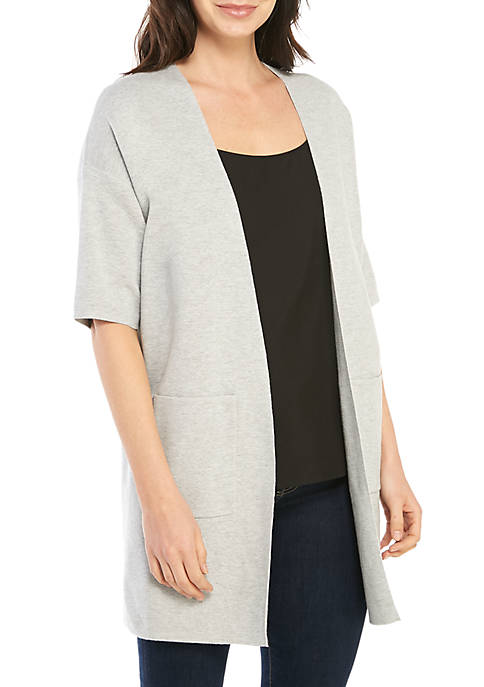 Eileen Fisher Elbow Sleeve Open Cardigan