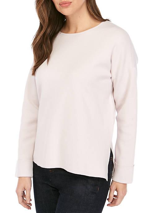 Eileen Fisher Round Neck Box Top Sweater