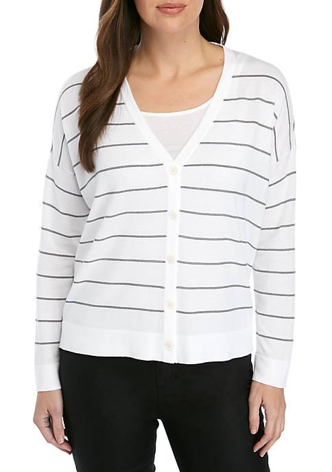 Stripe Boxy Cardigan