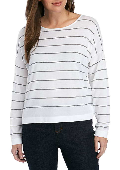 Eileen Fisher Stripe Box Sweater