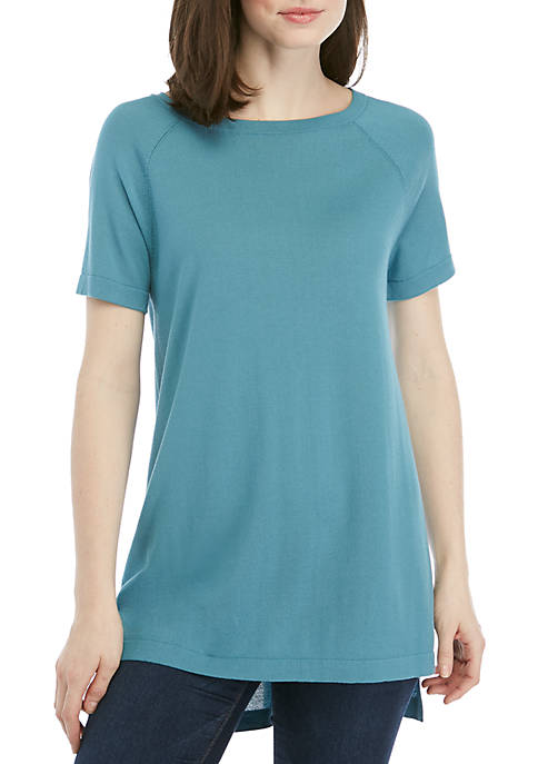 Eileen Fisher Short Sleeve Bateau Neck Sweater