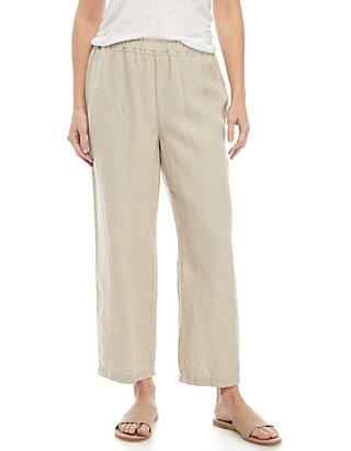 b72b7a7e00324 Eileen Fisher Drawstring Linen Crop Pants | belk