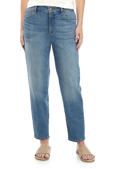 Eileen Fisher High Waist Ankle Jeans