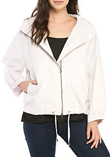 Eileen Fisher Hood Canvas Jacket