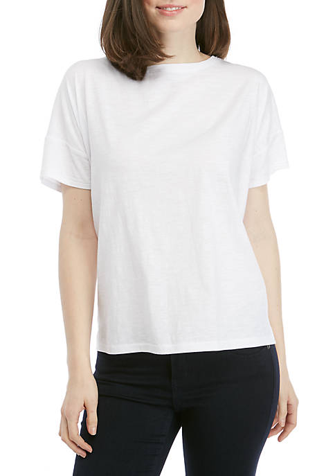 Eileen Fisher Short Sleeve Bateau Neck Top