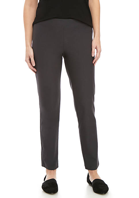 Eileen Fisher Slim Straight Crop Ankle Pants