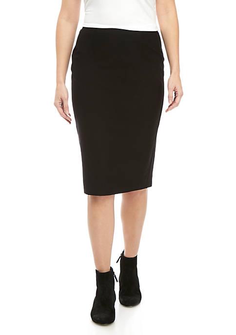 Eileen Fisher High Waist Crepe Pencil Skirt
