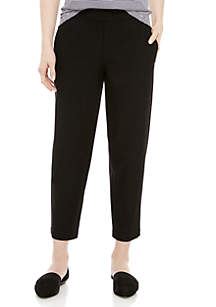 Eileen Fisher Tapered Ankle Crepe Pants