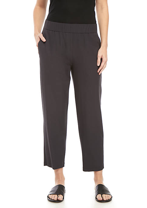 Tapered Ankle Crepe Pants