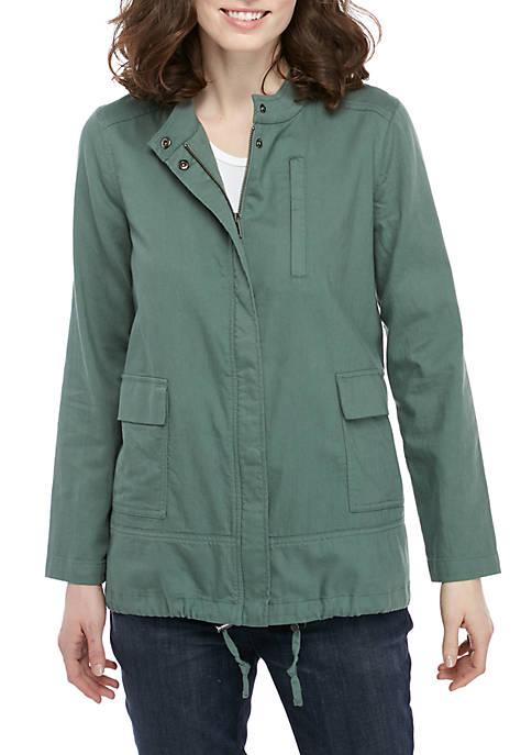Eileen Fisher Stand Collar Twill Jacket