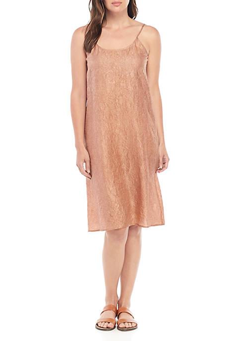 Eileen Fisher Crushed Silk Cami Dress