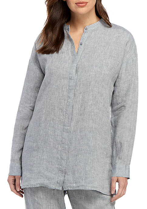 Eileen Fisher Boxy Linen Shirt