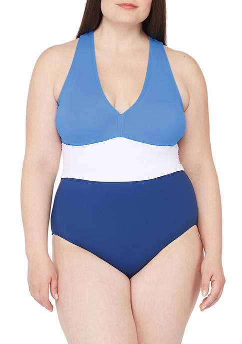 Lauren Ralph Lauren Plus Size Color Block Twist