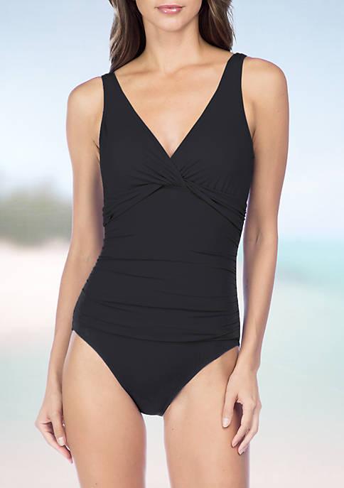 Lauren Ralph Lauren Beach Twist Underwire One Piece