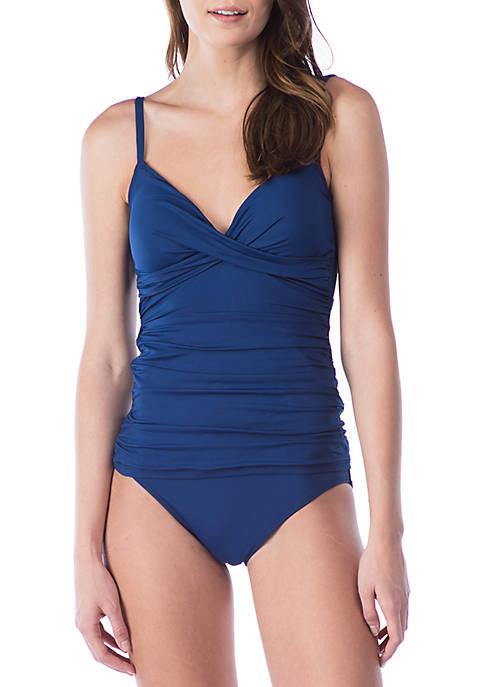 Beach Club Solids Underwire Swim Tankini