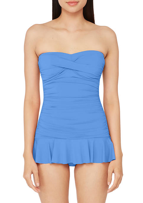 Lauren Ralph Lauren Beach Club Twist Front Shirred
