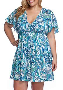 Lauren Ralph Lauren Plus Size Fiesta Paisley Printed Swim Tunic